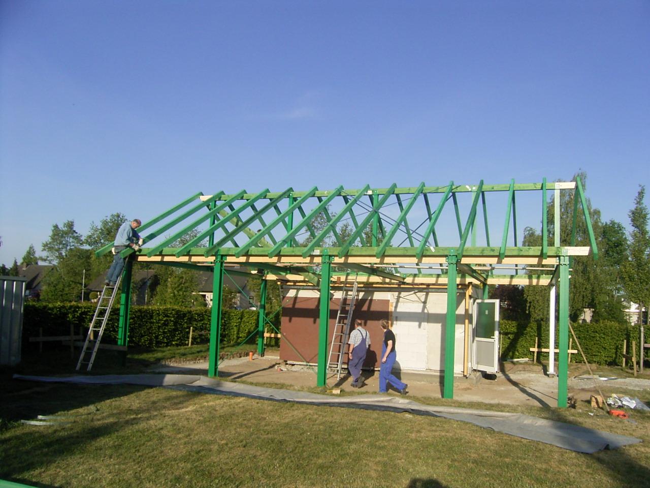 Errichtung des Schützenhauses 1