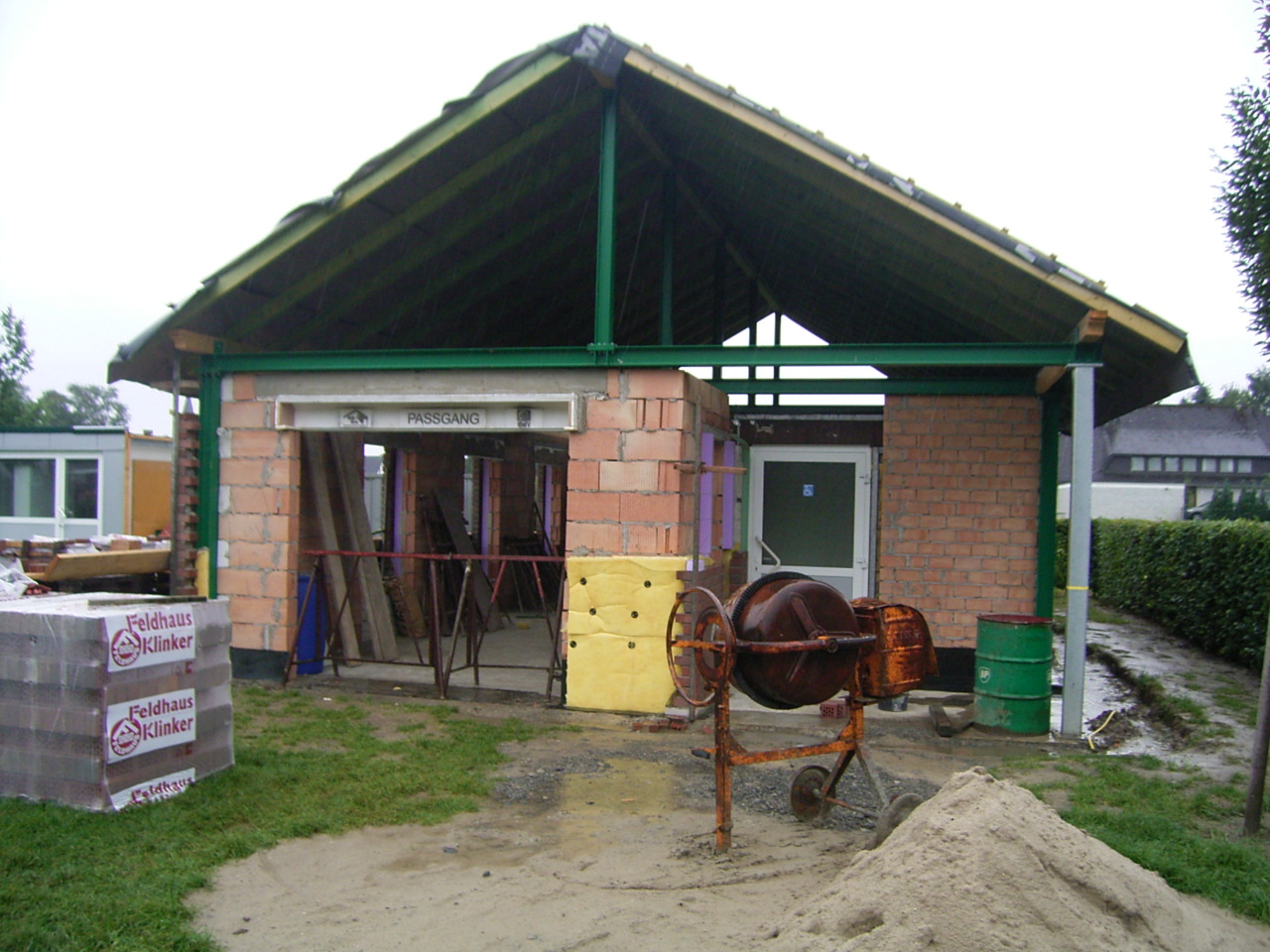 Errichtung des Schützenhauses 3